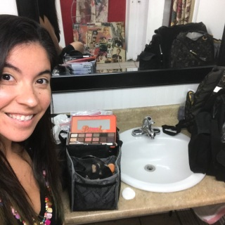 Ana in makeup chair